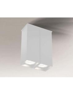 Toda biały downlight 2 punktowy 18 cm 7004 - Shilo