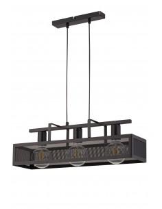 Albert lampa wisząca czarna 3 punktowa metalowa 32173 - Sigma