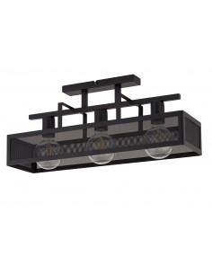 Albert lampa sufitowa 3 punktowa czarna metalowa 32174 - Sigma