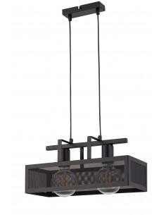 Albert lampa wisząca 2 punktowa metalowa czarna 32175 - Sigma