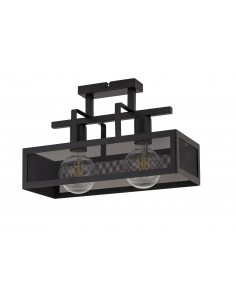 Albert lampa sufitowa czarna metalowa 2 punktowa 32176 - Sigma