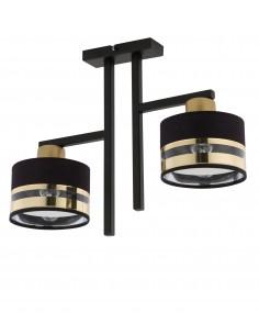 Pro lampa sufitowa 2 punktowa czarno złota nowoczesna 32149 - Sigma