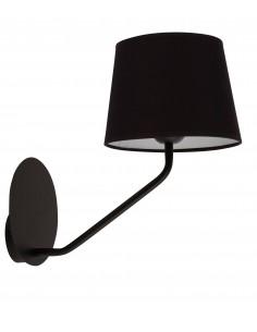 Lizbona kinkiet czarny 1 punktowy abażur 32112 - Sigma