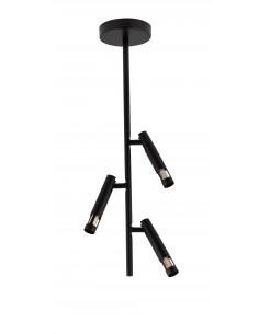 Leda mini lampa sufitowa 3 punktowa czarna 33247 - Sigma