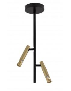 Leda mini lampa sufitowa 2 punktowa czarno złota 33246 - Sigma