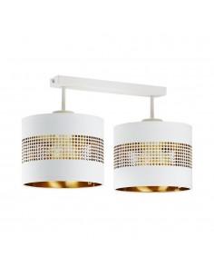 Tago lampa sufitowa 2 punktowa biało złota 3223 - TK Lighting