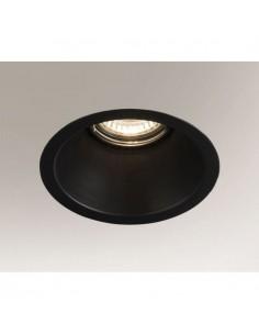 Oczko podtynkowe Kami GU10 czarne metalowe 3326 - Shilo