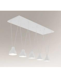Lampa wisząca loftowa Masami 5 biała 7951 - Shilo