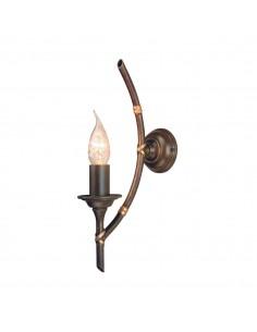 Bamboo kinkiet 1 punktowy brązowy BB1-BRZ-PATINA - Elstead Lighting