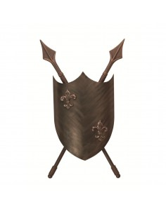 Crusader kinkiet 2 punktowy brązowy CRUSADER-W-L - Elstead Lighting