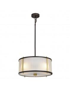 Corona lampa wisząca 3 punktowa brązowa DL-CORONA-3P-BAB - Elstead Lighting