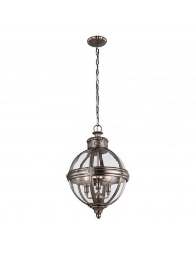 Adams lampa wisząca 3 punktowa srebrna FE-ADAMS-3P-ANL - Feiss