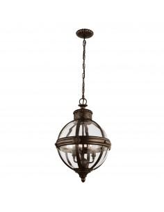 Adams lampa wisząca 3 punktowa brązowa FE-ADAMS-3P-BRZ - Feiss
