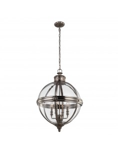 Adams lampa wisząca 4 punktowa srebrna FE-ADAMS-4P-ANL - Feiss