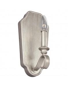 DeWitt kinkiet 1 punktowy świecznikowy srebrny FE-DEWITT1 - Feiss