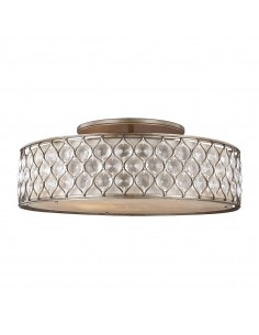 Lucia lampa sufitowa kryształowa srebrna FE-LUCIA-6SF-L - Feiss