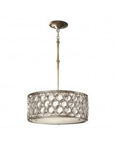 Lucia lampa wisząca kryształowa srebrna FE-LUCIA-B - Feiss