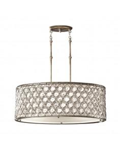 Lucia lampa wisząca kryształowa srebrna FE-LUCIA-P-A - Feiss