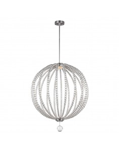 Oberlin lampa wisząca LED z kryształkami L nikiel FE-OBERLIN-P-L - Feiss