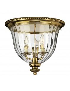 Cambridge lampa sufitowa mosiądz 3 punktowa HK-CAMBRIDGE-F-B - Hinkley