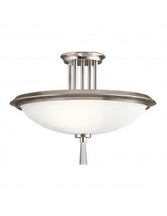 Dreyfus lampa sufitowa srebrna KL-DREYFUS-SFCLP - Kichler