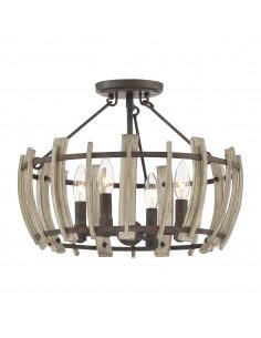 Wood Hollow lampa sufitowa z drewnem QZ-WOOD-HOLLOW-SF - Quoizel