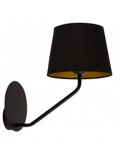 Lizbona kinkiet 1 punktowy czarny 32113 - Sigma