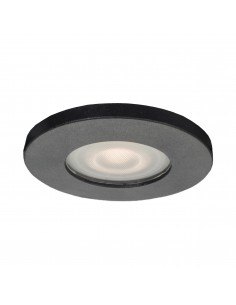 Lagos oczko podtynkowe czarne szczelne IP65 LP-440/1RS BK - Light Prestige