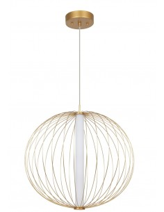 Treviso lampa wisząca LED druciana złota LP-798/1P L GD - Light Prestige