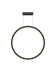 Mirror lampa wisząca LED ring circle czarna LP-999/1P L BK - Light Prestige