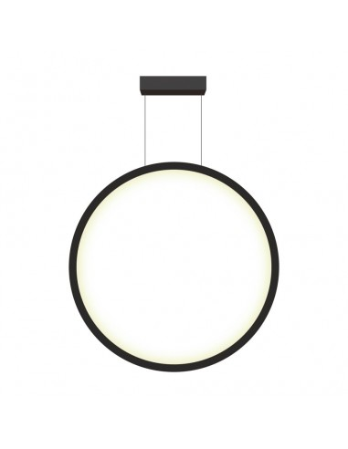 Mirror lampa wisząca LED ring circle czarna LP-999/1P L BK - Light Prestige