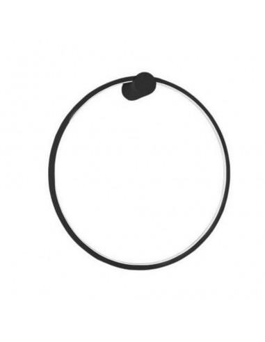 Mirror kinkiet LED 90 czarny IP44 ring circle LP-999/1W L BK - Light Prestige