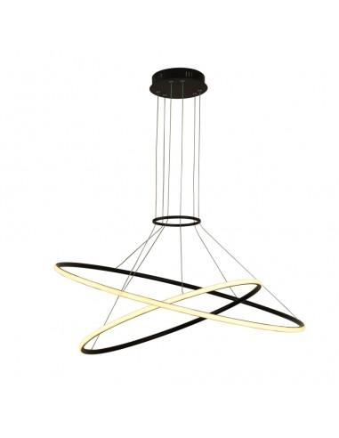 Halifax lampa wisząca LED czarna ring circle LP-940/2P 4BK - Light Prestige
