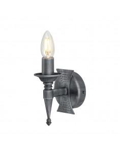 Saxon kinkiet świecznikowy grafitowy SAX1-BLK-SIL - Elstead Lighting
