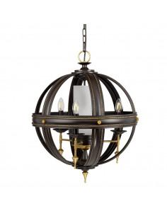 Regal żyrandol 4 punktowy czarno złoty REGAL4 - Elstead Lighting