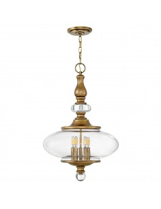 Wexley lampa wisząca 5 punktowa mosiądz HK-WEXLEY-5P-HB - Hinkley