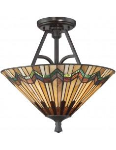 Alcott lampa sufitowa witrażowa tiffany QZ-ALCOTT-SF - Quoizel