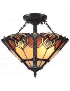 Cambridge lampa sufitowa witrażowa tiffany QZ-CAMBRIDGE-SF - Quoizel