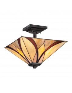 Asheville lampa sufitowa witrażowa tiffany QZ-ASHEVILLE-SF - Quoizel