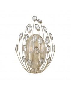 Tulah kinkiet z kryształkami 2 punktowy srebrny HK-TULAH2 - Hinkley