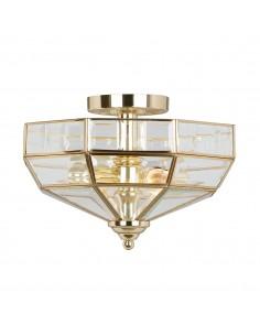 Old Park lampa sufitowa złota OLD-PARK-PB - Elstead Lighting