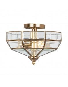 Old Park lampa sufitowa mosiężna OLD-PARK-AB - Elstead Lighting