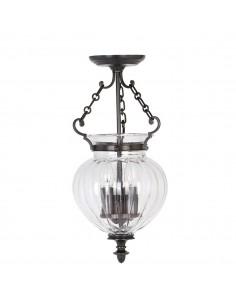 Finsbury Park lampa wisząca brązowa FP-P-S-OLD-BRZ - Elstead Lighting