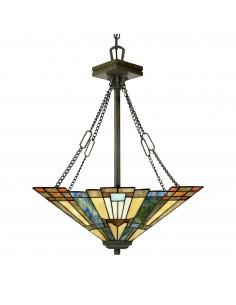Inglenook lampa wisząca witrażowa tiffany QZ-INGLENOOK-P-B - Quoizel