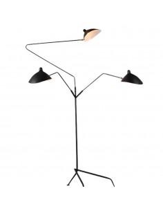 Lampa podłogowa Crane 3F czarna F8703 - Step Into Design