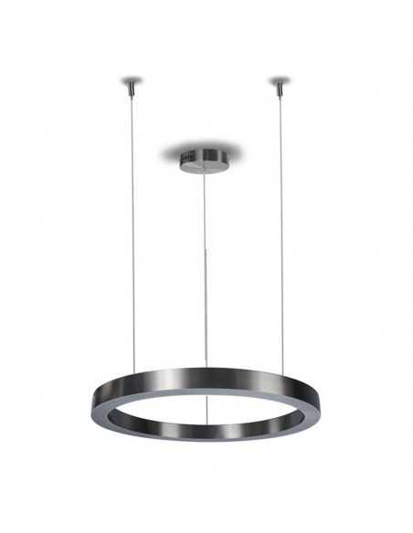 Pendant lamp CIRCLE 60 LED brushed nickel - Step Into Design