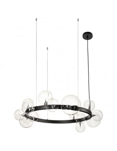 Lampa wisząca Orion kule czarna ring XC111-850 - Step Into Design