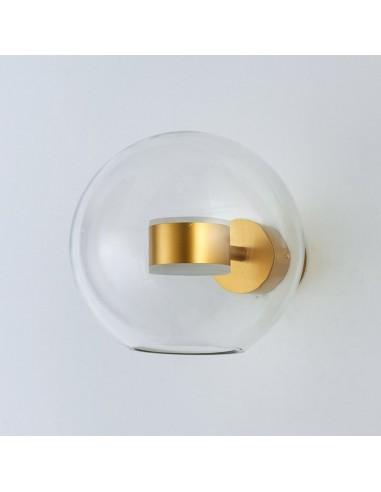 Kinkiet LED szklana kula Bubbles-1 złota ST-0801W gold - Step Into Design
