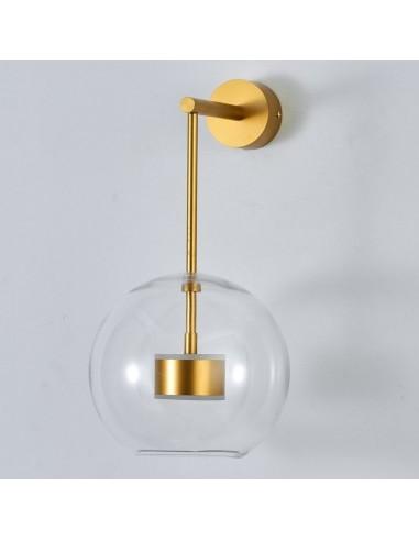 Kinkiet LED złoty Bubbles-1 szklana kula ST-0801W-1 gold - Step Into Design
