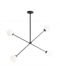 Lampa sufitowa Ohio czarna szklane kule 1081PL/L1 - Aldex